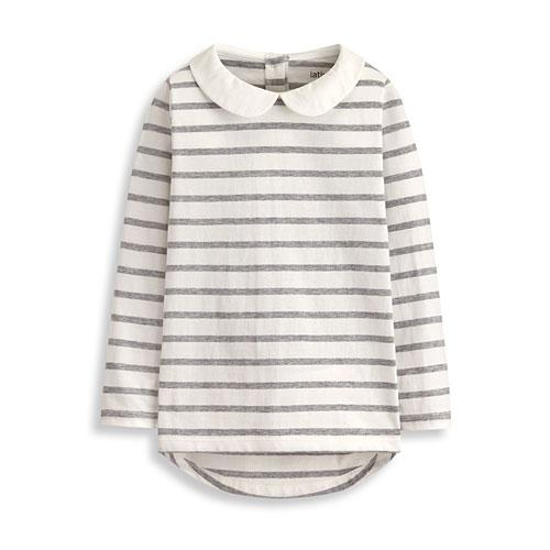 條紋圓領衫-童