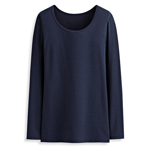 保暖圓領長袖衫-女