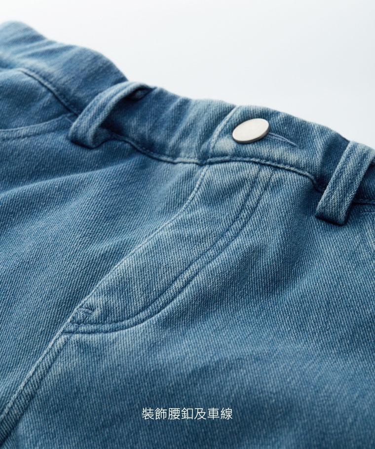 針織牛仔緊身褲-女