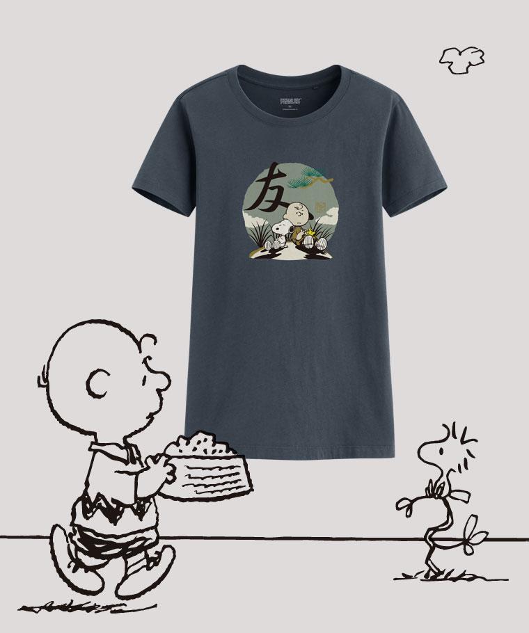 史努比印花T恤-09-女