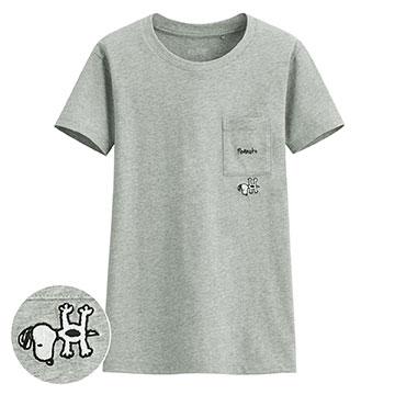 史努比口袋印花T恤-08-女