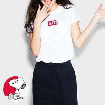 史努比印花T恤-06-女