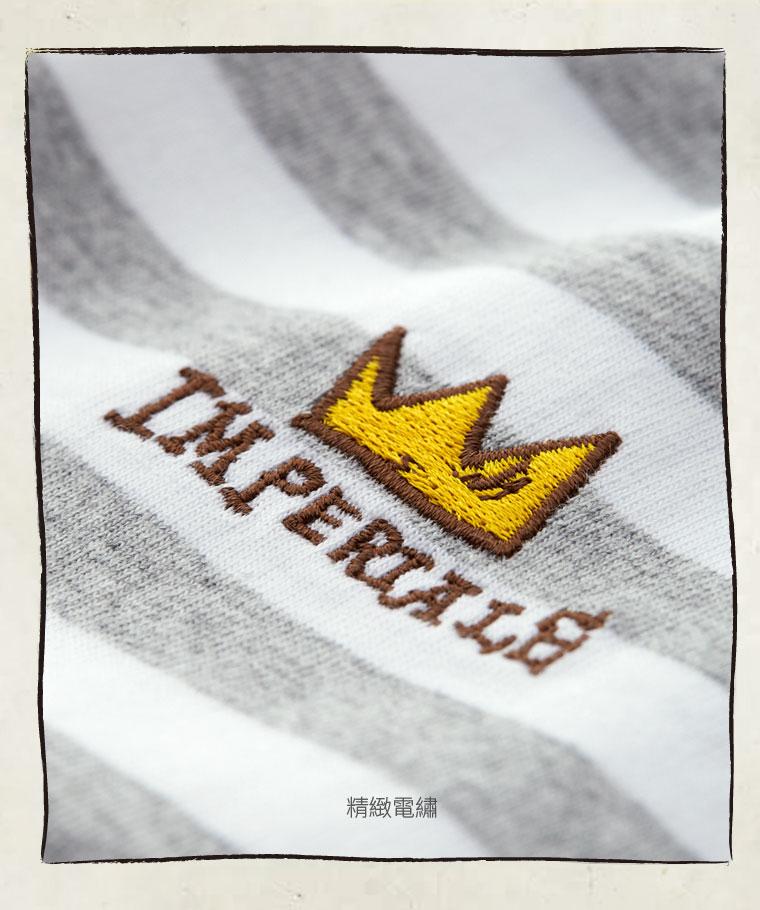 Jean-Michel Basquiat條紋印花T恤-07-男
