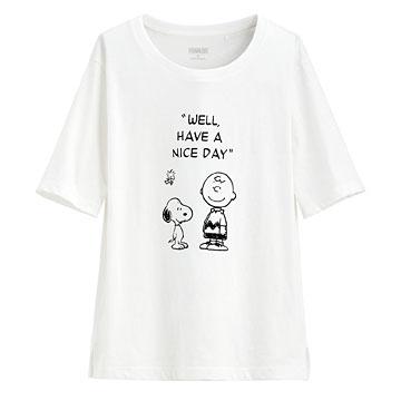 史努比竹節棉寬版T恤-18-女