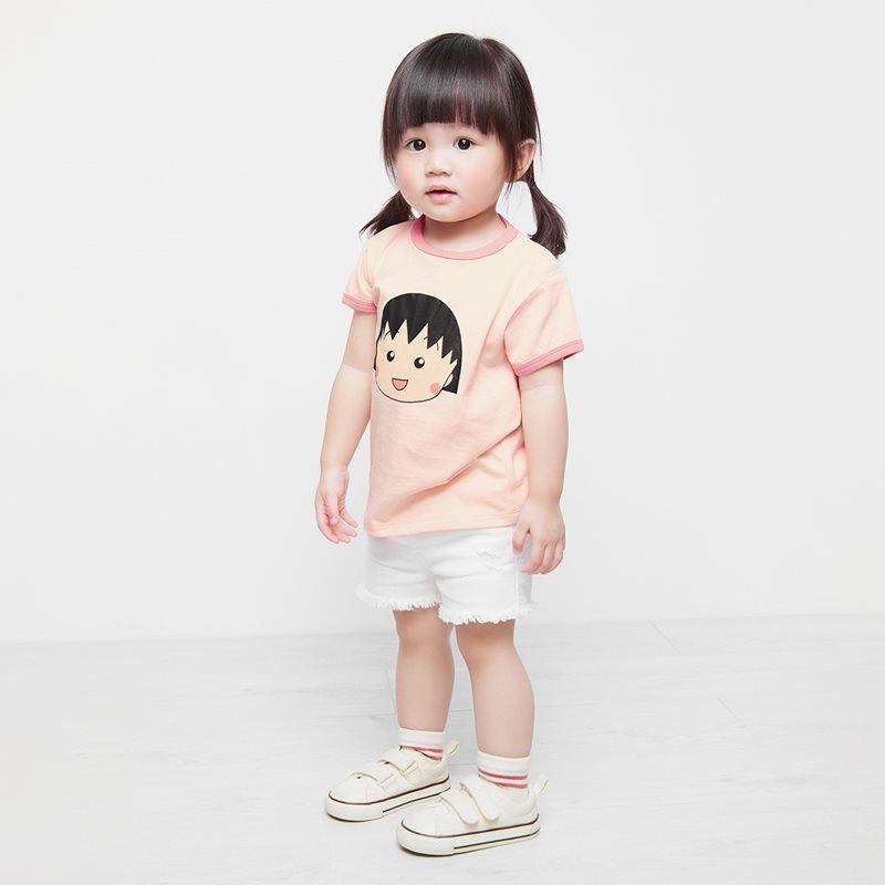 櫻桃小丸子羅紋配色印花T恤-11-Baby
