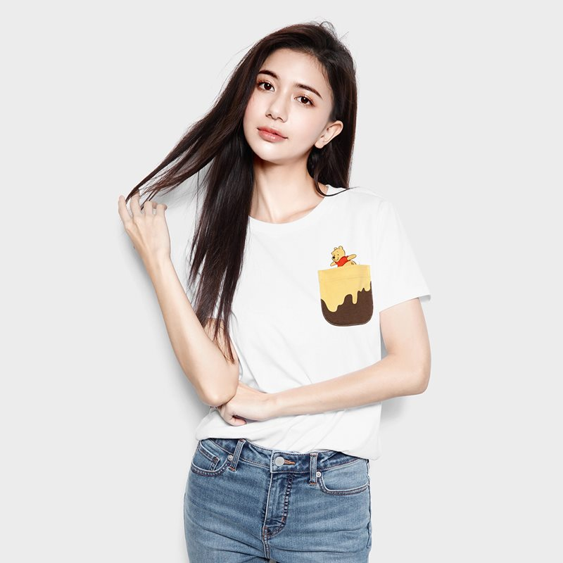 迪士尼系列口袋印花T恤-29-女