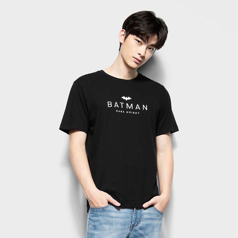 Batman印花T恤-04-男
