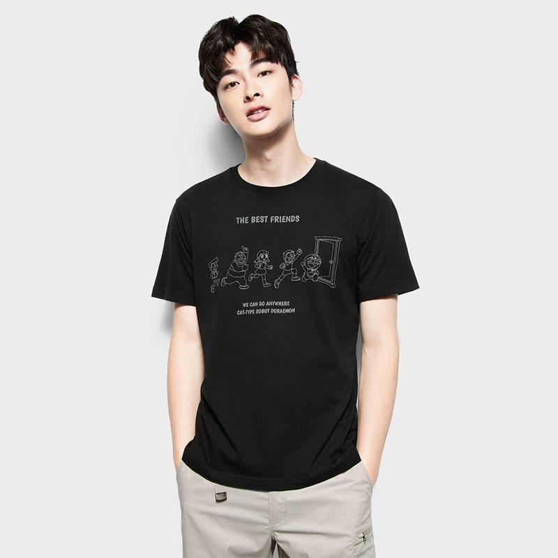 哆啦A夢印花T恤-14-男