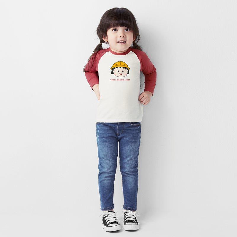 櫻桃小丸子拉克蘭長袖印花T恤-01-童